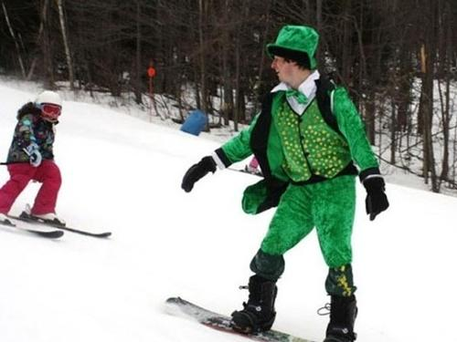 St Patricks Day Skiing